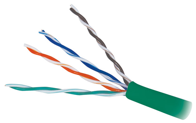 Cable Cat 5e 4 PR 1000' PVC Green PB