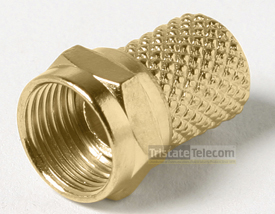 Connector F Twist-On RG6 Gold 10 Pk
