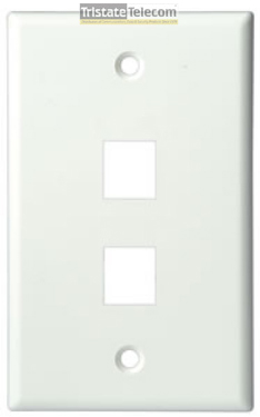 FACEPLATE, CLASSIC 2 PORT 1G WHITE 10 PK