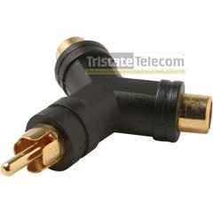 Y Adaptor RCA 2 Female - 1 Male (10 PK)