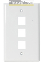 FACEPLATE, CLASSIC 3 PORT 1G WHITE 10 PK