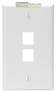 Wall Plate 2 Port Single Gang White
