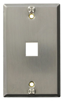Wallplate Stainless Steel Recessed Keyst