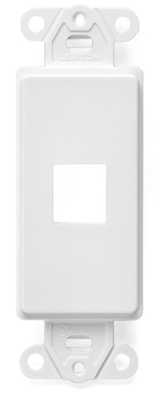 Insert Decora Wall Plate 1 Port White