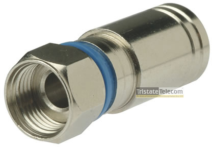 Connector F Compression RG6-Quad 100 PK