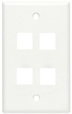 FACEPLATE, CLASSIC 4 PORT 1G WHITE 10 PK