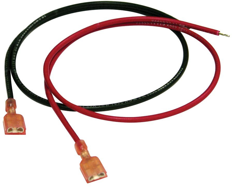 "Battery Leads 18"" Red & Black 18AWG"