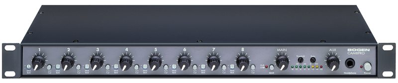 2-channel, 8-input Line/MIC Mixer