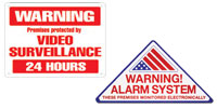 CCTV & Security Warning Signs