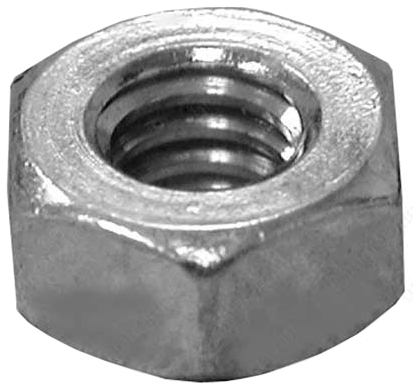 "Nut 3/8"" Zinc Plated Hex"
