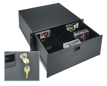 Drawer W/Lock 4U Anodized