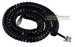 4 COND HANDSET CORD 12' BLACK