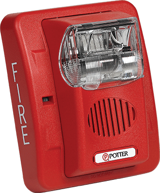 Horn/Strobe Wall Mount Red  Selectable Candela