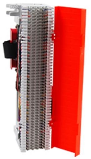 66 block telco rj21x w/orange cover