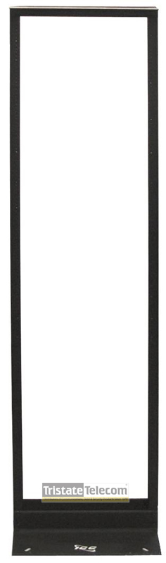 2 POST RACK DISTRIBUTION BLACK ALUMINUM 7FT