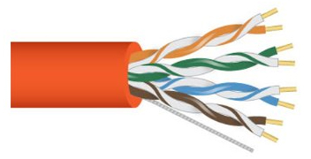 Cable Cat 5e 4 PR 1000' PVC Orange PB