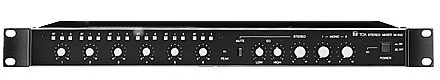 Mixer Rack Mount 2 Mono/4 Stereo In
