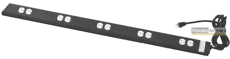 10 OUTLET SGL 15AMP PWR W