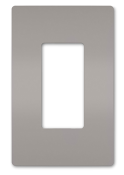 DECORA 1 Gang Screwless Plate GRAY