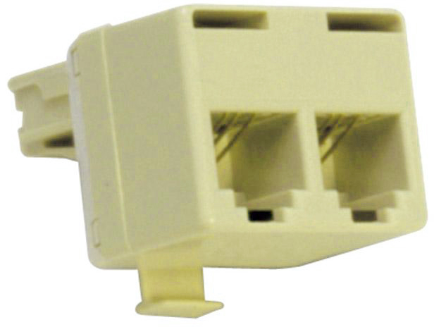 T-Adapter 4C Line 1/Line 2 Ivory