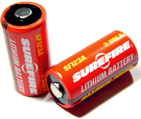 Battery 3 Volt CR123A Lithium
