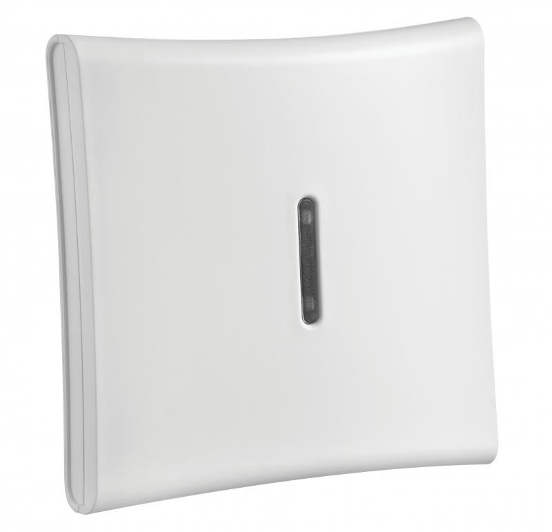 PowerG 915Mhz wireless indoor siren. Includes ?A? size